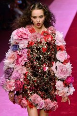 With added clips (and everything) at Dolce & Gabbana.