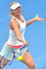Sharapova during her ultimately successful 2015 Brisbane International campaign.