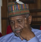 Nigeria's former national security adviser Sambo Dasuki attends a hearing to face charges of possessing weapons illegally in Abuja, Nigeria, in September.