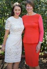 Krystal Barter with first lady Margie Abbott.