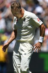 Frustation: Tom Curran after his costly no-ball