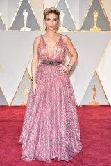 Scarlett Johansson at the Oscars in Hollywood on February 26, 2017.