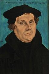 The man who changed the world: Martin Luther in a portrait by Lucas Cranach the Elder.