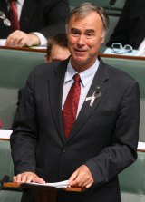 Liberal member for Bennelong John Alexander during his Maiden Speech at Parliament House.