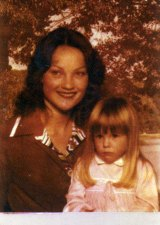 Pauline Hanson, still Pauline Zagorski when this photo was taken, with Amanda [Mark Hanson's daughter from his first marriage], circa 1978.