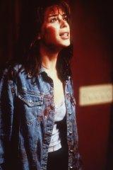 Neve Campbell as Sidney Prescott in <i>Scream</i>.