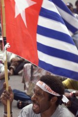 The West Papuan flag
