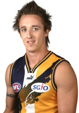 Ben Sharp, in 2006, when he was with the West Coast Eagles.