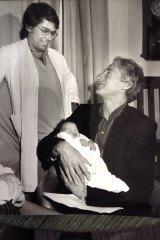 Professor Carl wood and Dr Trounsen in 1984 during the early days of IVF.