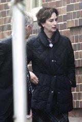 Janet Storrier wife of artist Tim Storrier outside Moss vale court.
