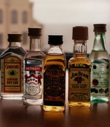Two cabin staff were fired after the random search, which uncovered single-serve bottles of spirits.