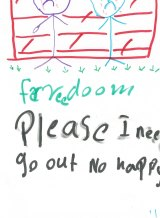 A drawing from a child held in detention.