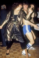 Margaret at Studio 54 in the early 1980s.