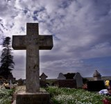 Norfolk Island cemetery, where Colleen McCullough is to be buried.