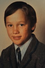 Peter Blenkiron as a child.