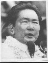 Former Filipino President Ferdinand Marcos in 1985.