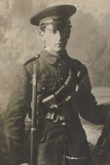 Irish Volunteer Gerald Keogh, killed by Anzac troops during the Easter Rising, Dublin, 1916.