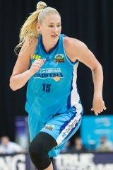 Injured Canberra Capitals star Lauren Jackson.