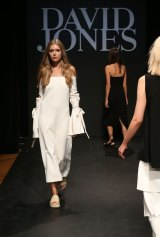 A model showcases designs by Ellery at the David Jones AW16 Fashion Launch in Sydney.