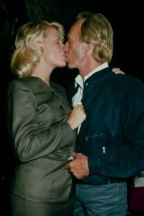 Actress Linda Kozlowski with Paul Hogan in happier times in 1988.