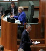 Shadow Attorney-General Mark Dreyfus leaves the chamber on Thursday.