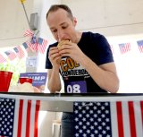 Colin MacLaurin managed to beat Chris Davey by half a burger.