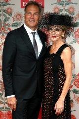 Foreign Minister Julie Bishop and partner David Panton.