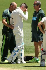 """Michael has substantial damage to a key part of the hamstring tendon"": Australia's team doctor Peter Brukner."