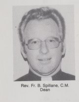 Former priest Brian Spillane, pictured in the St Stanislaus' College 1978 yearbook.
