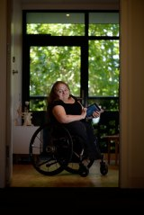 Bree Synot in her disability friendly home in Abbotsford.