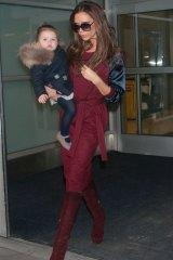 Victoria Beckham and daughter, Harper Beckham.