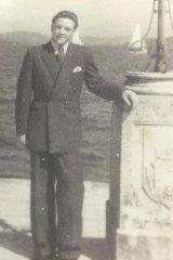 Steven (Istvan Koenig) before boarding a ship in Naples to come to Australia.