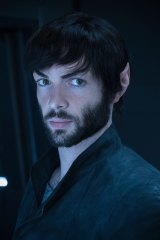 Ethan Peck as Spock in season 2 of Star Trek: Discovery.