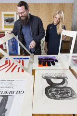 Stuart Geddes and Megan Patty, co-editors of Some Posters from the NGV.