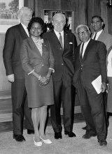 High esteem: Faith Bandler with Prime Minister Harold Holt (centre).