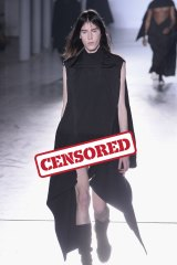 Anything goes? Rick Owens' male models showed more than has been seen on the catwalk before.