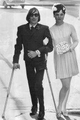 Jeff St John, 21, married Pam Bailey, 21, at the Wayside Chapel in Kings Cross in 1967.