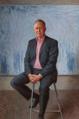 """Paul Newton's """"Portrait of Rupert Myer AO"""" is one of the straightest pictures in this year's Archibald Prize."""