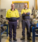 Capral apprentices John Shorter and Anthony Smith.