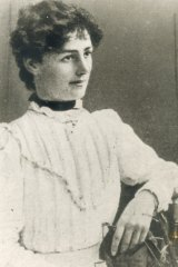 Vida Goldstein, suffragette and would-be senator, aged about 30, October 27, 1899.