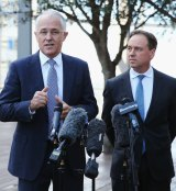 PM Malcolm Turnbull and   Environment Minister Greg Hunt at the launch of the Clean Energy Innovation Fund  in March.