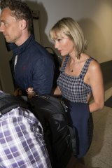 Hiddleswift arrived in Sydney before taking a connecting flight to the Gold Coast.