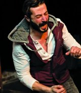 Mark Diaco in The Long Red Road, by Human Sacrifice Theatre, at Fortyfivedownstairs.