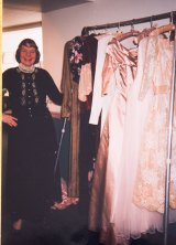 Doris Darnell pictured in the 1980s with some of the pieces from her collection.