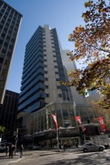 Exterior of the office tower at  60 Margaret Street.