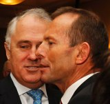 Tony Abbott and Malcolm Turnbull at the 2010 Liberal Party Convention.