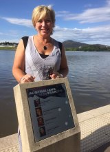 Rosie Batty on the Australians of the Year Walk beside Lake Burley Griffin in Canberra.