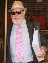 Former CFMEU boss John Maitland leaves Darlinghurst Supreme Court.