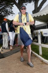 Roast master: Eddie McGuire at the KPMG Couta Boat race.