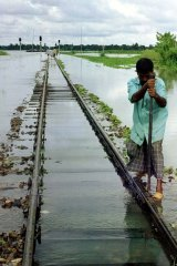 Flooding in Bangladesh in 1998.